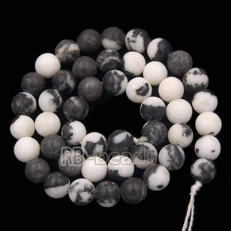 Natural Black White Zebra Jasper beads, 2mm 3mm 4mm 6mm 8mm 10mm Stone Round Jewelry Gemstone Beads, For Jewelry making and Beading - RainbowShop for Craft