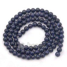 Load image into Gallery viewer, Natural Blue Sandstone Beads, Gem 4mm 6mm 8mm 10mm Stone Round Jewelry Gemstone Beads, For Jewelry making and Beading - RainbowShop for Craft
