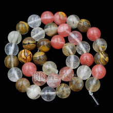 Load image into Gallery viewer, Natural Volcano Cherry Quartz Beads Watermelon Skin Quartz Gem 4mm 6mm 8mm 10mm Stone Round Jewelry Gemstone Beads For Jewelry making