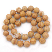 Load image into Gallery viewer, Natural Wood Grain Jasper Brown Beads, Gem 4mm 6mm 8mm 10mm Stone Round Jewelry Gemstone Beads, For Jewelry making and Beading - RainbowShop for Craft