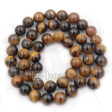 Load image into Gallery viewer, Natural Brown Yellow Tiger Eye Beads,  Gemstone Beads, Jewelry Spacer Stone Round Beads, 4mm 6mm 8mm 10mm 12mm 14mm - RainbowShop for Craft