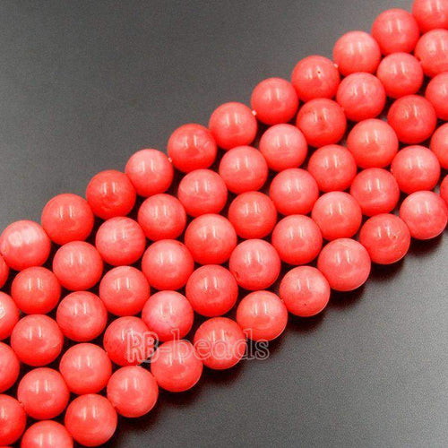 Natural Pink Coral Beads, Pink Beads, Pink Gemstone Beads, Stone Beads, Round Natural Beads, 15''5 Full Strand, 3mm 4mm 5mm 6mm - RainbowShop for Craft