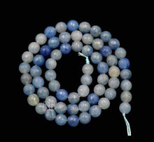Load image into Gallery viewer, Natural Faceted Blue Aventurine Beads, 4mm 6mm 8mm 10mm Round Jewelry Gemstone Stone Beads, 15''5 st. For Jewelry making and Beading - RainbowShop for Craft