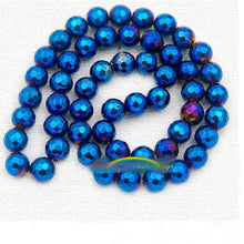 Load image into Gallery viewer, Faceted Blue Hematite Jewelry Beads, 3mm 4mm 6mm 8mm 10mm Round Gemstone beads, Blue Hematite Spacer beads, faceted stone beads - RainbowShop for Craft