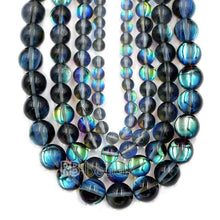 Load image into Gallery viewer, Mystic Gray Aura Quartz Beads loose Holographic Quartz  Beads, Jewelry  Rainbow AB Beads 6mm 8mm 10mm 12mm beads - RainbowShop for Craft