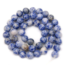 Load image into Gallery viewer, Smooth Blue Spot Jasper beads, 2mm 3mm 4mm 6mm 8mm 10mm Gemstone Jewelry Beads, Round Natural Stone Beads, Loose beads 15''5 - RainbowShop for Craft