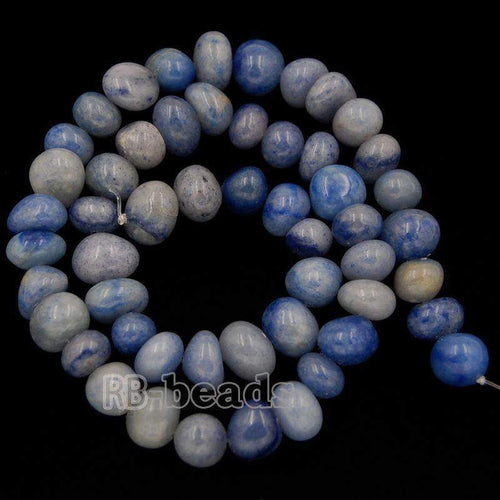 Blue Spot Jasper beads, Potato Gemstones beads, Spacer Loose Stone Nugget Beads, jewelry supplies For Jewelry Make 7.5
