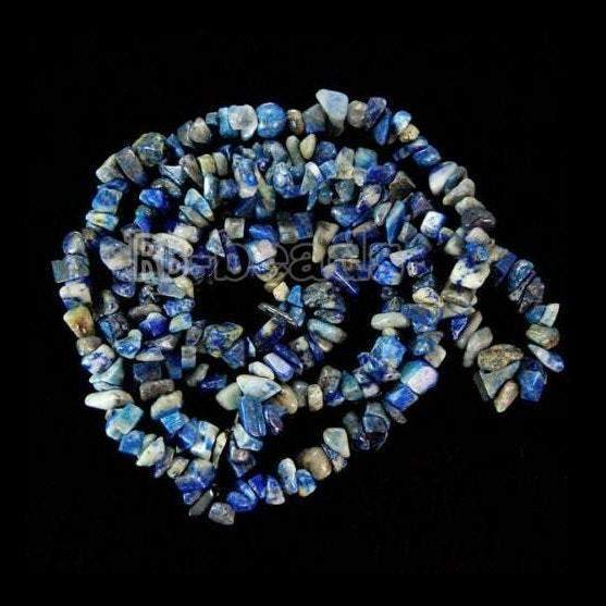 Natural Lapis Lazuli Chip Beads, Gemstone Spacer Beads, Polished Stone Smooth Beads,  5~8mm 34 Inc per strand, Wholesale Jewelry beads - RainbowShop for Craft