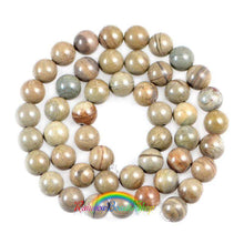 Load image into Gallery viewer, Natural Silver Leaf Jasper beads, 4mm 6mm 8mm 10mm 12mm Stone Round Jewelry Beads, Gemstone  Beads, 15.5' st. For Jewelry making and Beading - RainbowShop for Craft
