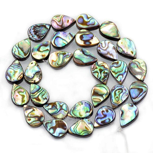 Natural Abalone Paua Shell teardrop beads, Gemstone Loose Beads, 8mm 12mm 14mm 16mm Stone Jewelry Beads, Semiprecious Beads,15