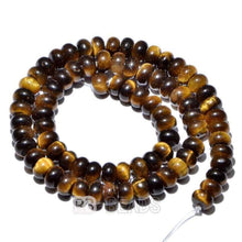 Load image into Gallery viewer, gem Natural Rondelle Disk Yellow Tiger Eye Beads, Smooth Matte and Faceted Stone Beads,  Loose 4x6mm 5x8mm Jewelry beads, 15.5'' strand - RainbowShop for Craft