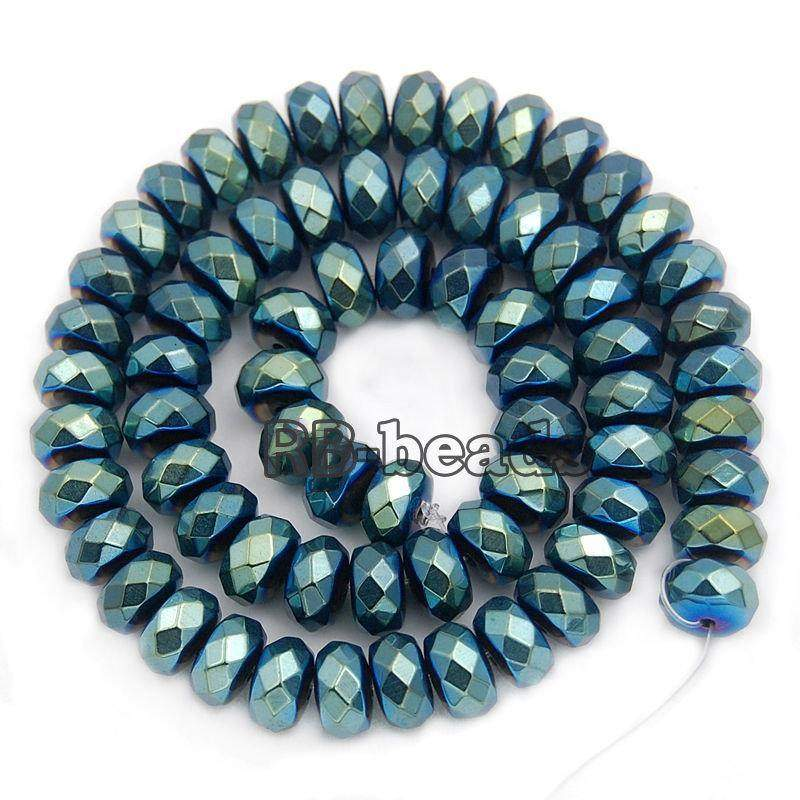 gem Natural Faceted Green Hematite Rondelle Beads, Disk Stone Beads,  Spacer Loose Jewelry beads, 2mm 3mm 4mm 6mm 8mm 10mm 16'' strand - RainbowShop for Craft