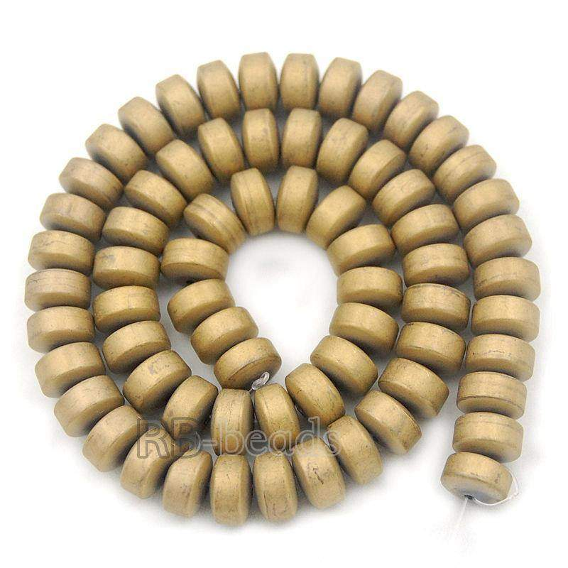 semiprecious Natural Rondelle Matte Gold Hematite Beads, Stone Beads,  Spacer Disk Loose Jewelry beads, 2mm 3mm 4mm 6mm 8mm 10mm 16'' strand - RainbowShop for Craft