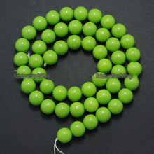 Load image into Gallery viewer, Green Coated Czech Glass Pearl Smooth Round Beads,  4-16mm - RainbowShop for Craft