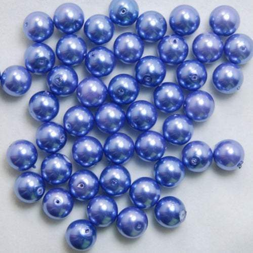 Dark Blue Czech Glass Pearl Round Beads, 100pcs all size - 3mm 4mm 6mm 8mm 10mm 12mm 14mm, Opaqu loose beads For jewelry making and beading - RainbowShop for Craft