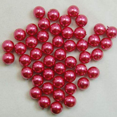 Dark pink  Czech Glass Pearl Round Beads, 100pcs - 3mm 4mm 6mm 8mm 10mm 12mm 14mm, Opaqu loose beads, For jewelry making and beading - RainbowShop for Craft