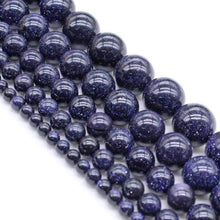 Load image into Gallery viewer, Natural Blue Sandstone Beads, 4-10mm Round Stone, 15.5'' inch. strand