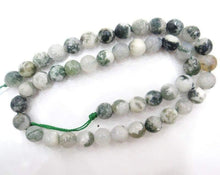 Load image into Gallery viewer, Natural Faceted Tree Agate Gemstone Beads, 6-10mm beads