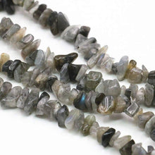 Load image into Gallery viewer, Natural Labradorite Chip Beads, Gemstone Spacer, 5~8mm 34 Inc per strand