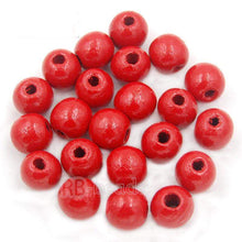 Load image into Gallery viewer, Assorted wooden beads natural, round size 4-16mm100pcs