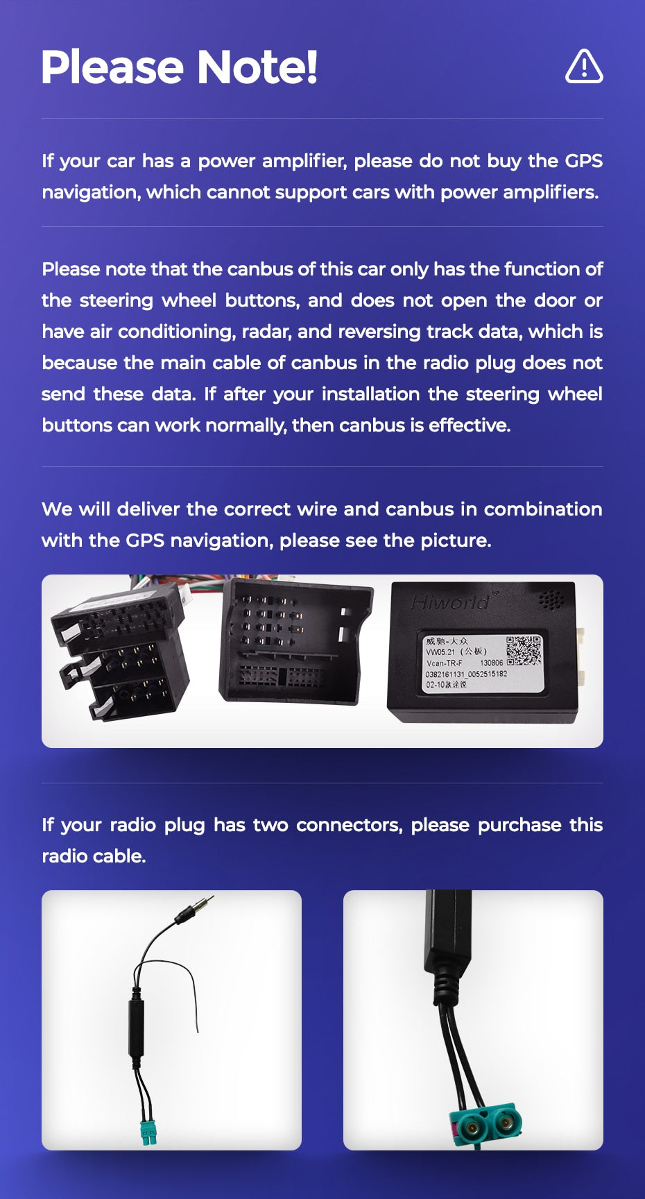 Amplifier canbus warning