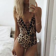 Load image into Gallery viewer, Leopard Bodysuit - Veronique Collection