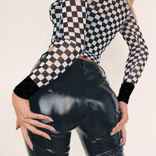 Load image into Gallery viewer, Checker long sleeve - Veronique Collection