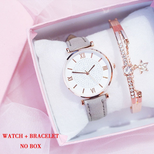 Galaxa Watch And Bracelet - Veronique Collection