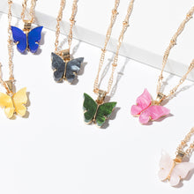 Load image into Gallery viewer, Glazed Butterfly Necklace - Veronique Collection