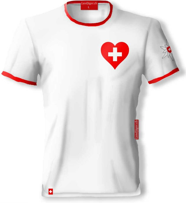 T-Shirt In love with Switzerland - Landjäger.ch