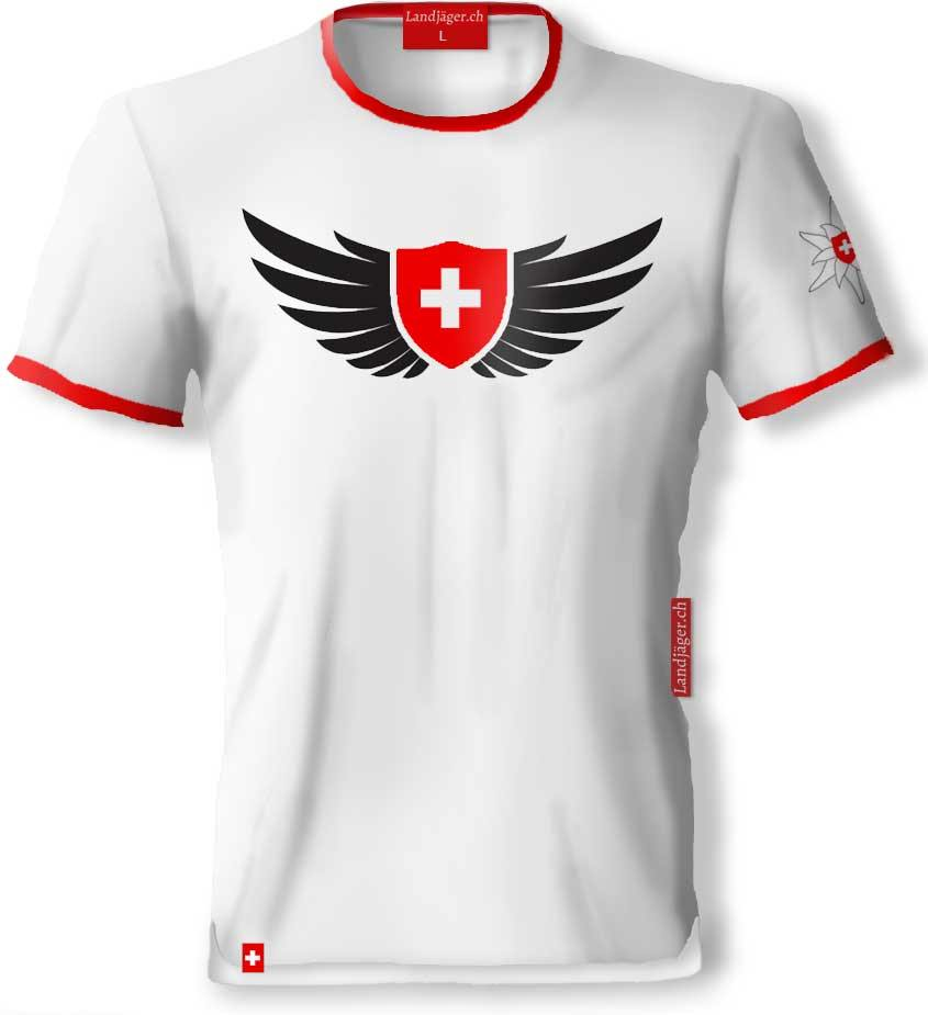 T-Shirt Swiss Wings - Landjäger.ch