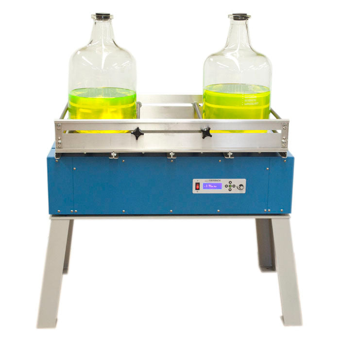 E5903 Digital Reciprocal Shaker - Shown with optional E5900.A.ST Shaker Stand and E5910 Platform with E5915 Box Carrier Conversion Kit - Eberbach Corporation