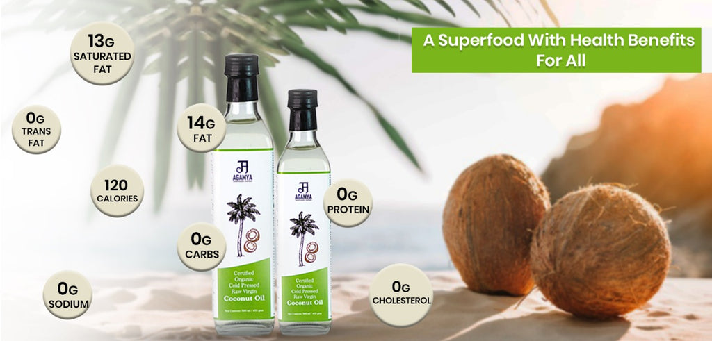 Nutrition facts of virgin coconut oil