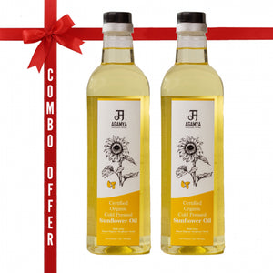 Certified Organic Sunflower Oil (1 ltr *2)