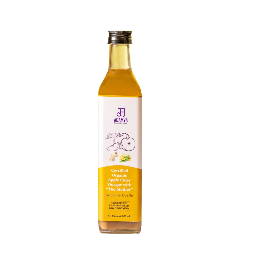 Certified Organic ACV Ginger & Garlic 500ml