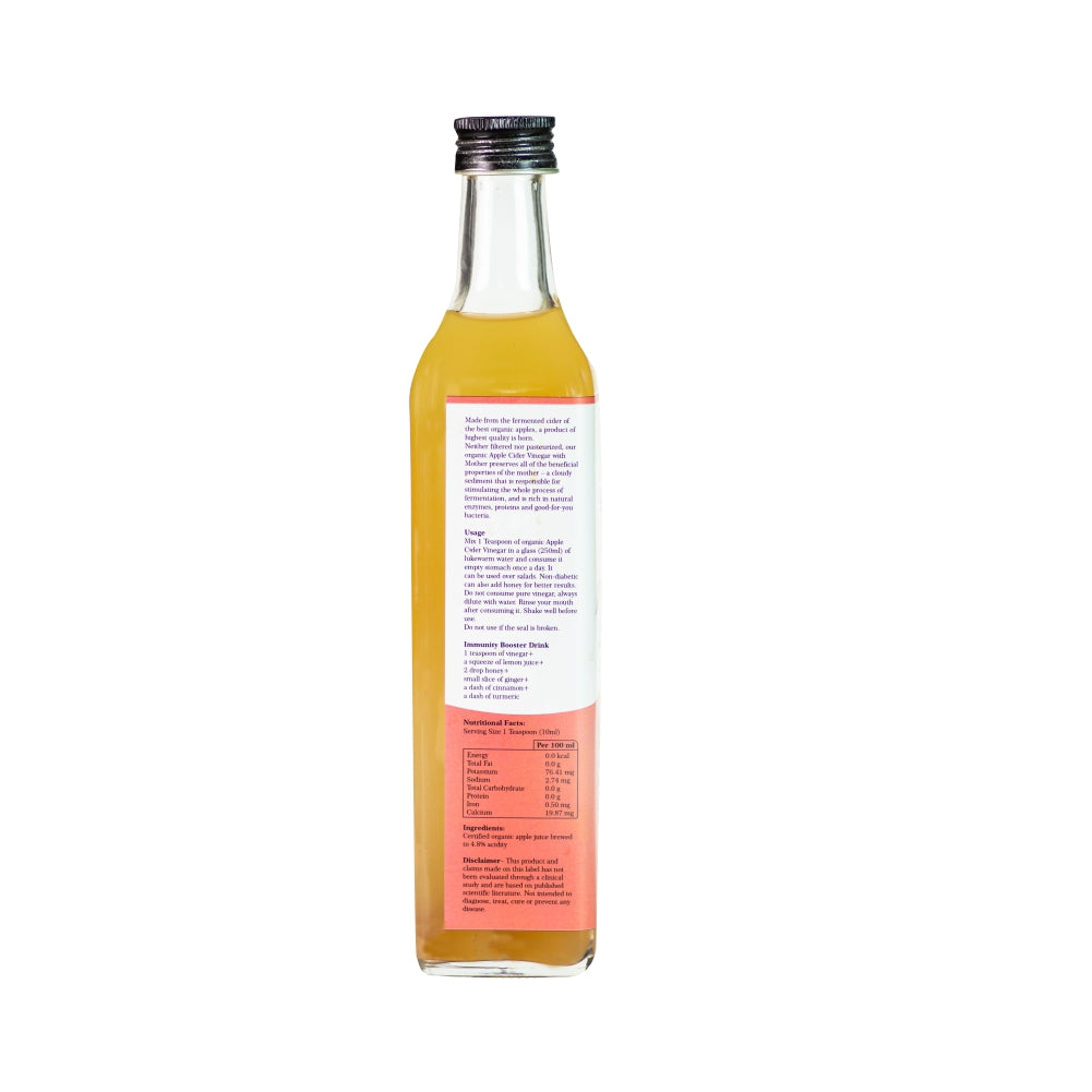 Certified Organic Apple Cider Vinegar with 'The Mother' 500ml