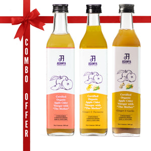 Apple Cider Vinegars in Three Flavour combo pack (500ml each)