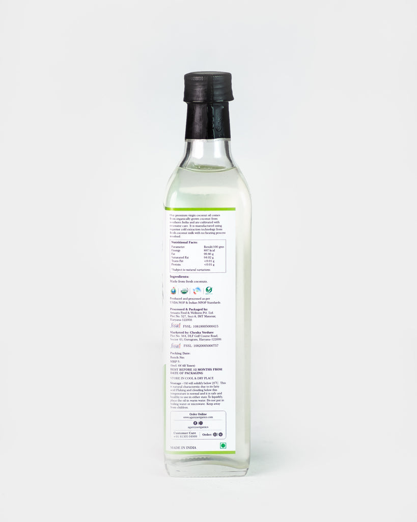 Certified Organic Virgin Coconut Oil 500ML