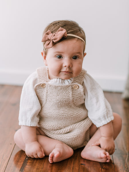 Nundle Wool Romper - Oatmeal