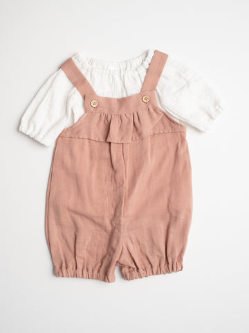 Vinti Overall Set - Dusty Pink