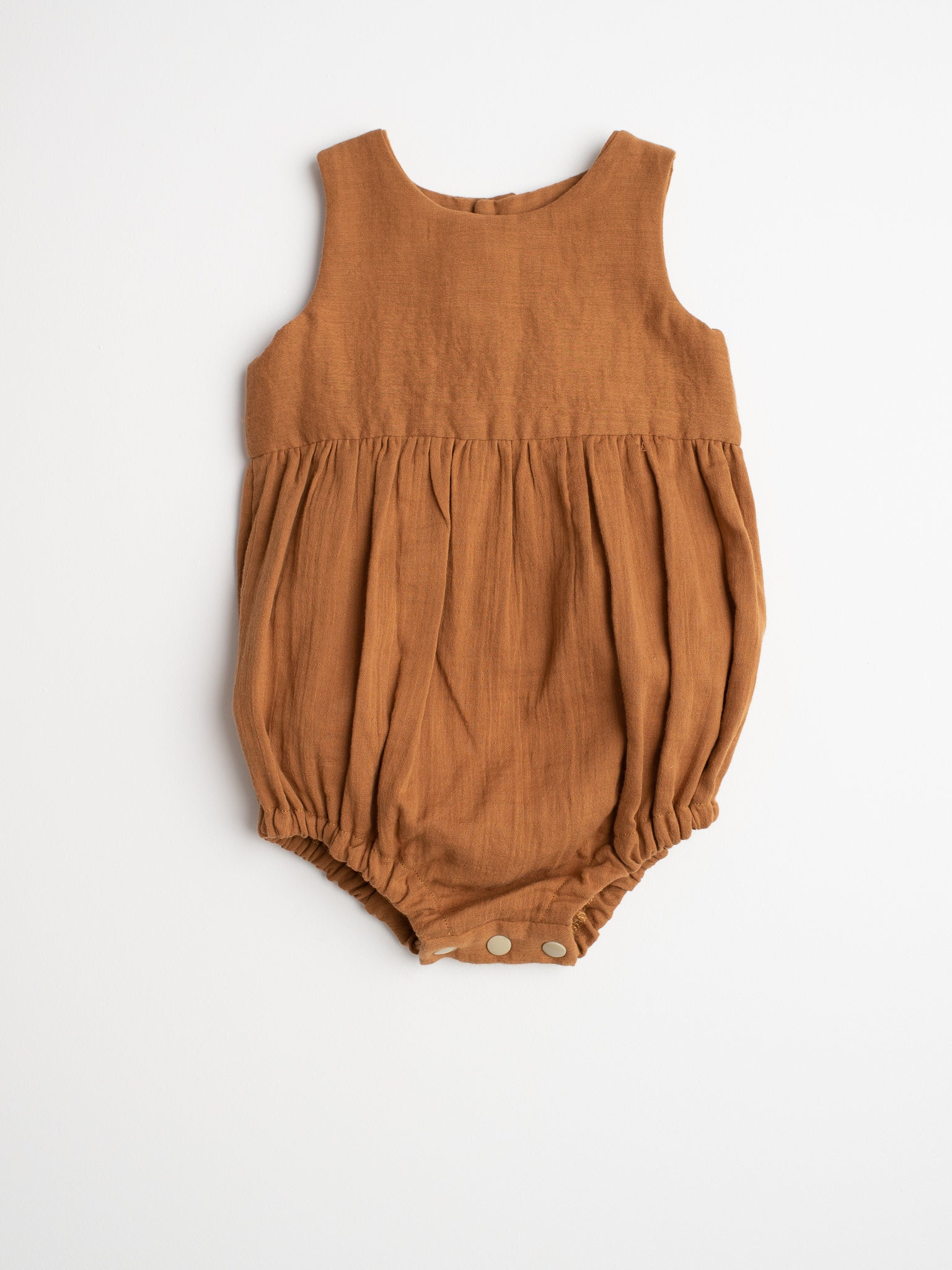 Cotton Romper - Ochre