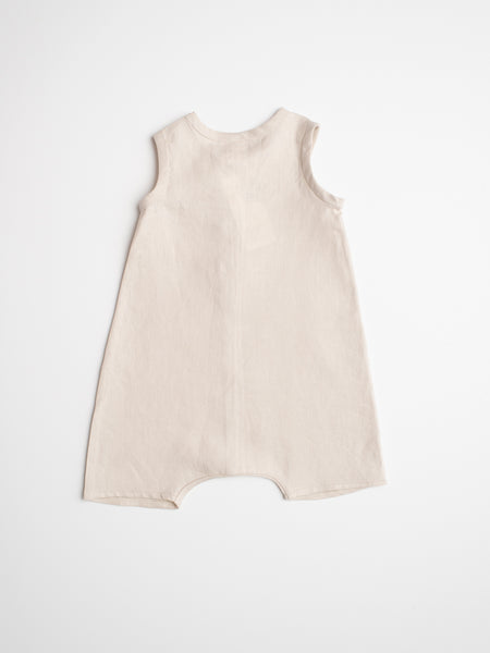 Elliott Romper - Linen Light Natural