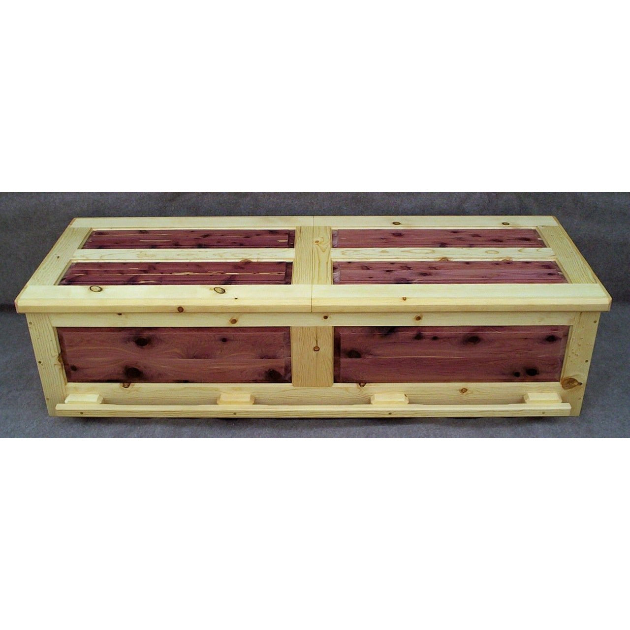 pine and cedar casket
