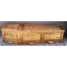"Load image into Gallery viewer, ""HOMESTEADER"" OAK COFFIN"