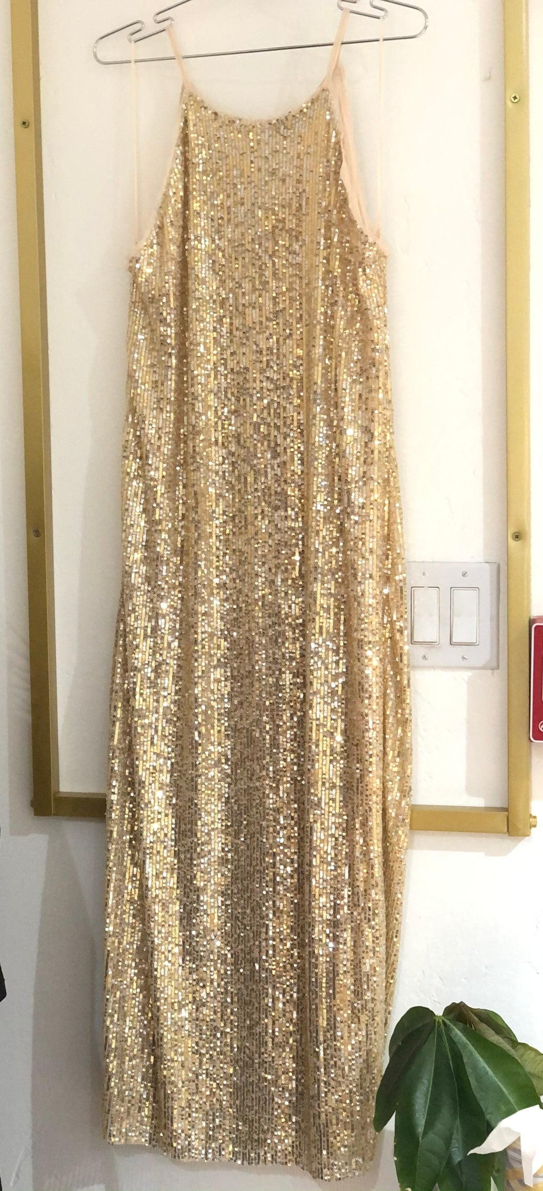 Halter Neck Sequin Dress
