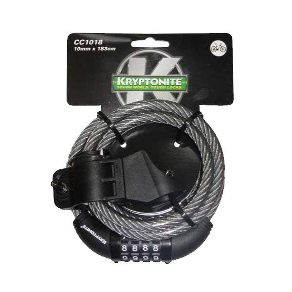 KRYPTONITE KRYPTOFLEX 1018 COMBO CABLE 10mm x 180cm W/BKT (3C)