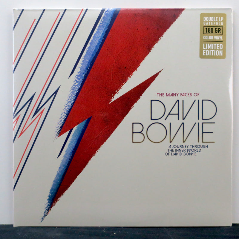 DAVID BOWIE 'Many Faces Of…' 180g RED/BLUE Vinyl 2LP