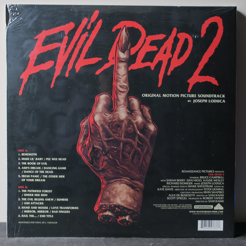 'EVIL DEAD 2' Soundtrack YELLOW Vinyl LP