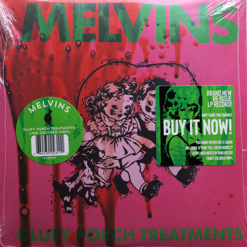 MELVINS 'Gluey Proch Treatments' LIME GREEN Vinyl LP