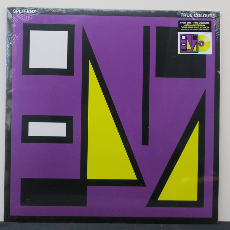 SPLIT ENZ 'True Colours' YELLOW Vinyl LP
